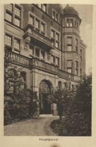 Außenansicht der Hüfferstiftung in den 1930er Jahren