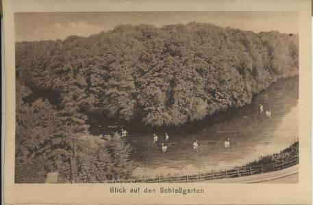 Blick auf den Schlossgarten - 1930er Jahre