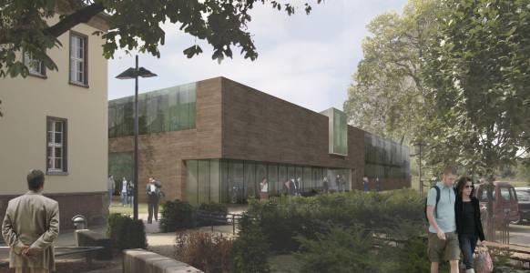 Damals war es noch ein Modell: das neue Gebäude für unseren Fachbereich Design, die Münster School of Design (MSD).