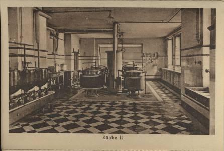 Innenansicht der Küche in den 1930er Jahren