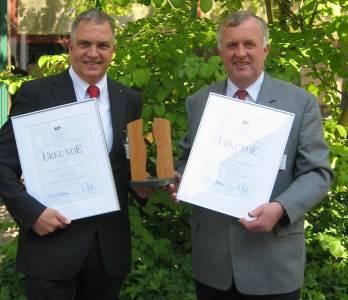 2008 ging der Preis an Prof. Dr. Christof Wetter (l.) und Prof. Dr. Nobert Ebeling.