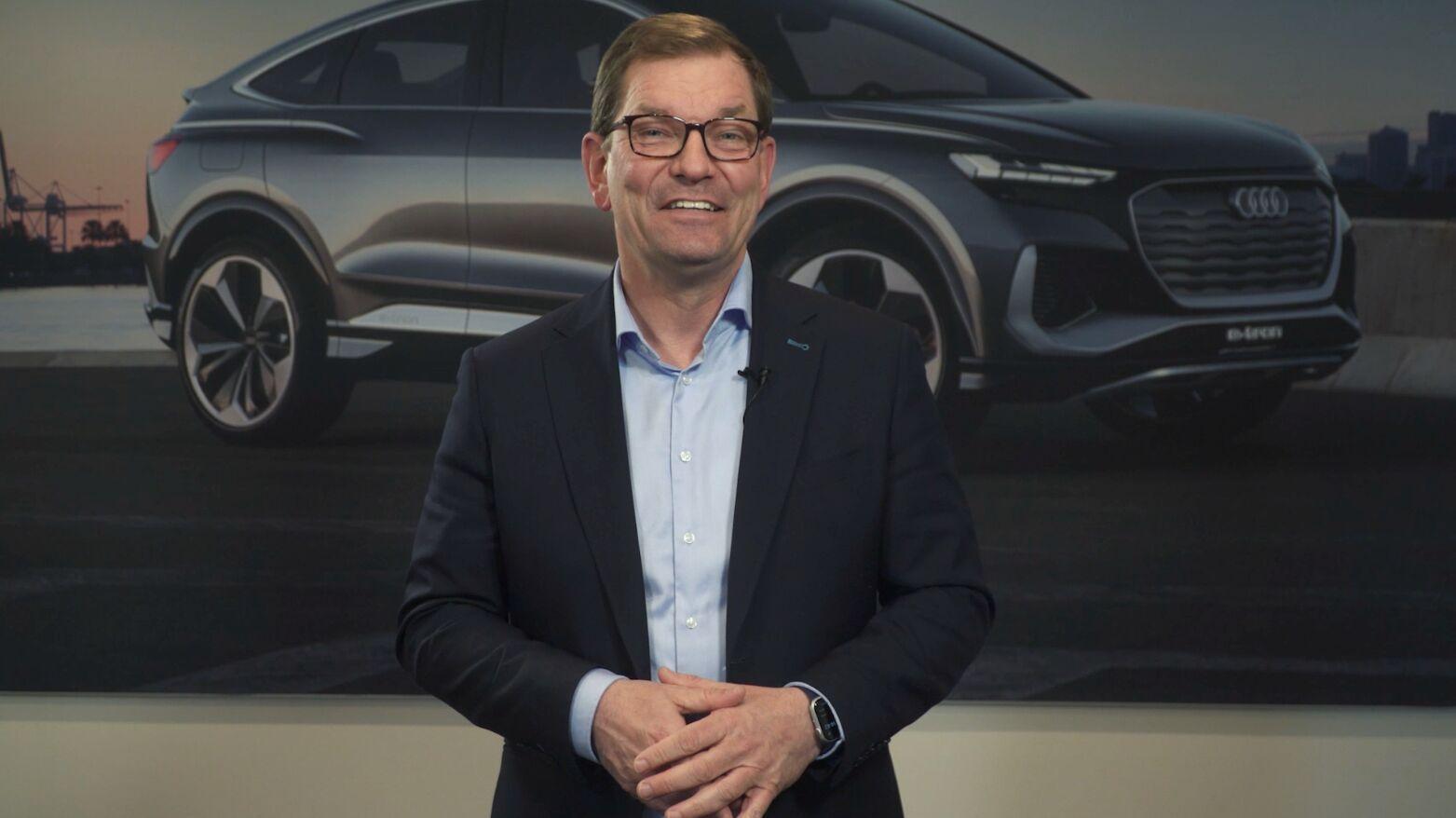 Markus Duesmann, Vorsitzender des Vorstands und Vorstand für Baureihen der AUDI AG, gratuliert unserer Hochschule zum Geburtstag.