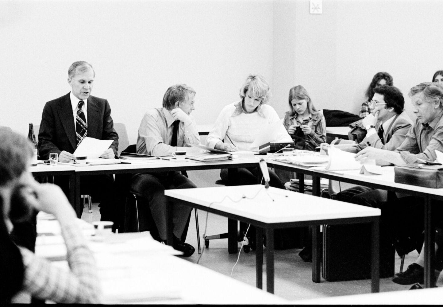 Senatssitzung in den Siebziger Jahren
