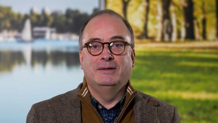 Klaus Ehling, Vorstand des Münsterland e.V., gratuliert unserer Hochschule zum 50. Geburtstag.