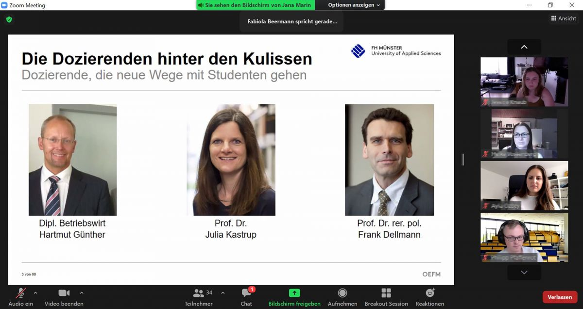 Screenshot aus dem Online-Workshop (Foto: FH Münster/Stefanie Gosejohann)