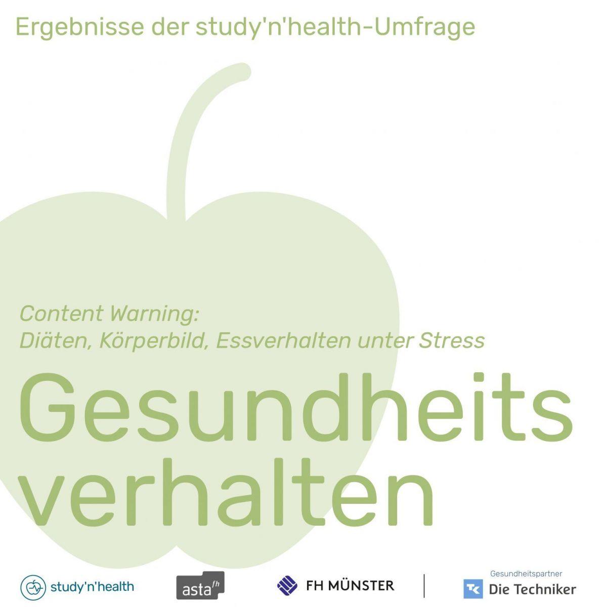 Grafische Darstellung eines Apfels mit den Logos der an der Umfrage beteiligten Einrichtungen (Foto: Grafik: AStA der FH Münster)