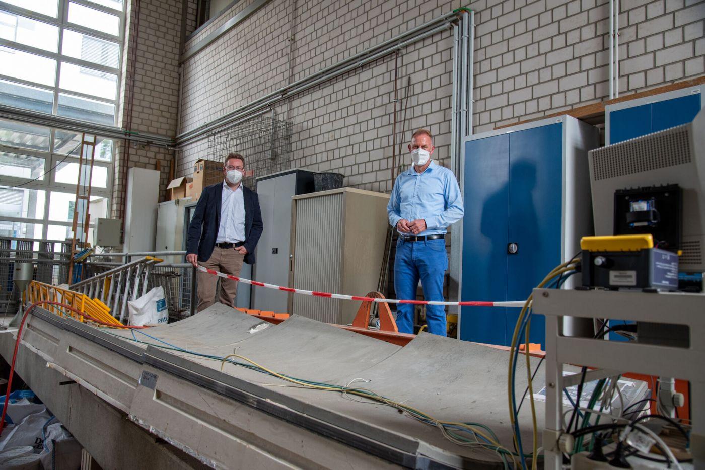 Prof. Dr. Dietmar Mähner und Dr. Ansgar Korte  (Foto: FH Münster/Katharina Kipp )