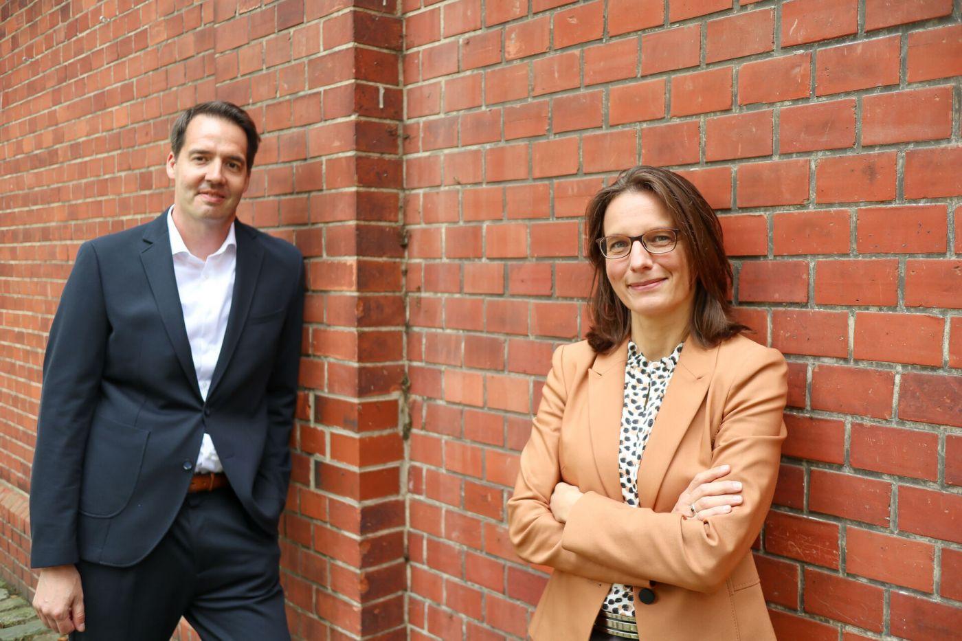 Carsten Schröder und Prof. Dr. Isabelle Franzen-Reuter  (Foto: FH Münster/Katharina Kipp )