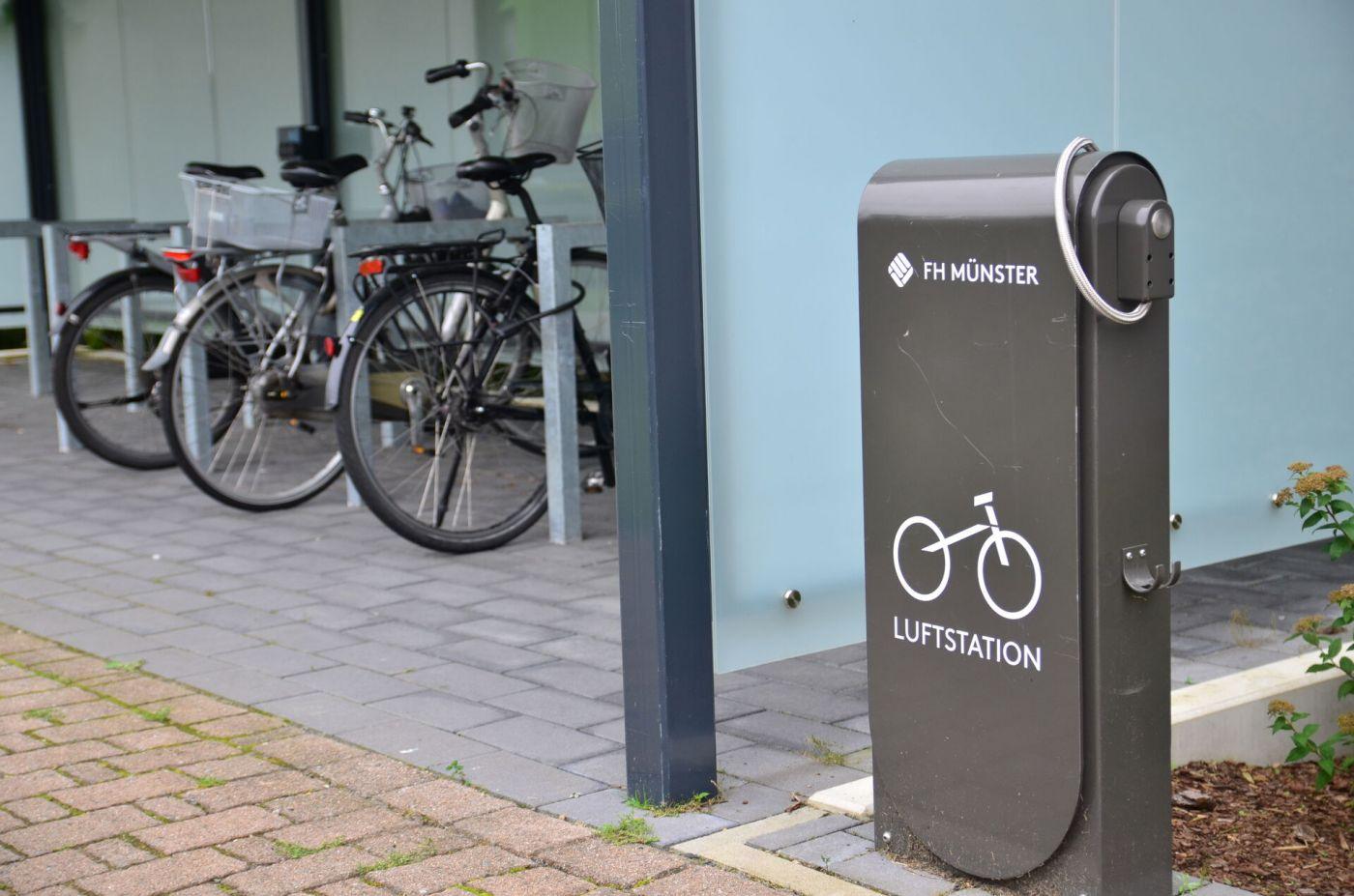 Das Konzept sieht unter anderem vor, den Weg zum Campus mit dem Fahrrad attraktiver zu machen. Dazu sollen zum Beispiel neue Stellplätze und eine Fahrradwerkstatt geschaffen werden. (Foto: FH Münster/Frederik Tebbe)
